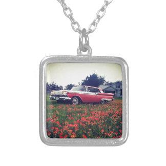 Mi vida del vintage - Wildflowers y Ford Galaxie Colgante Personalizado