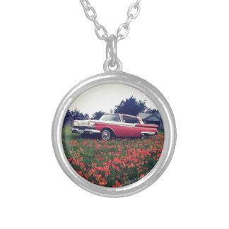 Mi vida del vintage - Wildflowers y Ford Galaxie Pendientes Personalizados