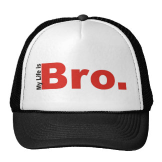 Mi vida es Bro. Gorro De Camionero