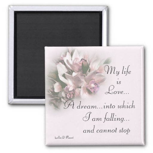 Mi vida es el amor 1 imán cuadrado