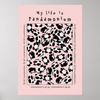 Mi vida es panda-monium póster