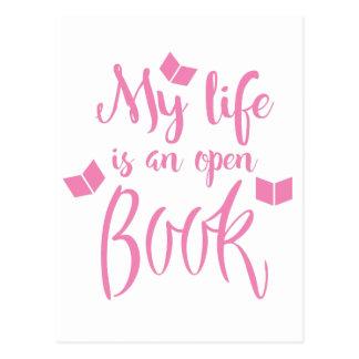 mi vida es un libro abierto postales