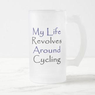 Mi vida gira alrededor del ciclo taza de cristal