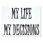 Mi vida mis decisiones comunicados personalizados