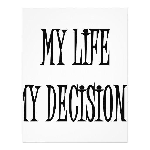 Mi vida mis decisiones tarjetas publicitarias