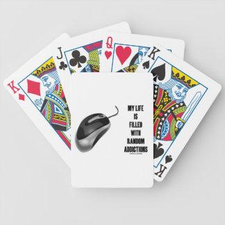 Mi vida se llena de los apegos al azar (el ratón) barajas de cartas