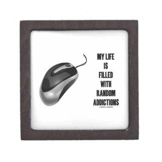 Mi vida se llena de los apegos al azar (el ratón) caja de joyas de calidad