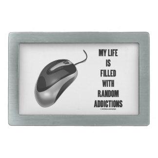 Mi vida se llena de los apegos al azar (el ratón) hebilla cinturón rectangular