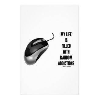 Mi vida se llena de los apegos al azar (el ratón) papelería