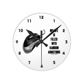 Mi vida se llena de los apegos al azar (el ratón) reloj redondo mediano