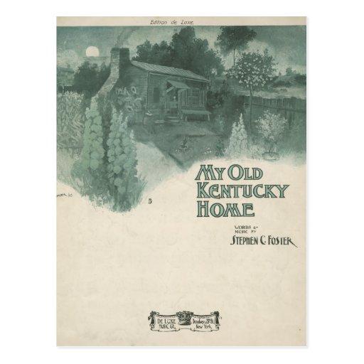 Mi viejo hogar de Kentucky Tarjeta Postal
