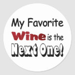 Mi vino preferido etiquetas redondas