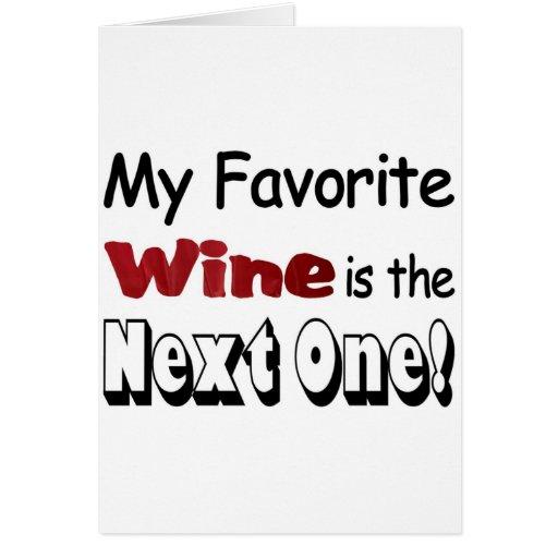 Mi vino preferido tarjetas