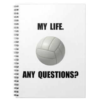 Mi voleibol de la vida libros de apuntes con espiral