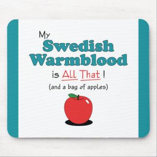 ¡Mi Warmblood sueco es todo el eso! Caballo divert Alfombrilla De Raton