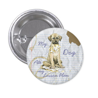 Mi Wolfhound irlandés comió mi plan de lección Pin Redondo 2,5 Cm