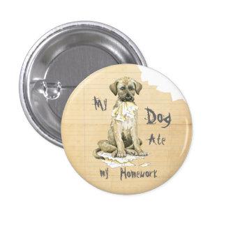 Mi Wolfhound irlandés comió mi preparación Pin Redondo 2,5 Cm