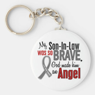 Mi yerno es un cáncer de cerebro del ángel 1 llaveros personalizados