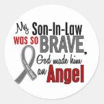 Mi yerno es un cáncer de cerebro del ángel 1 etiquetas redondas