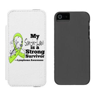 Mi yerno es un superviviente fuerte del linfoma funda billetera para iPhone 5 watson