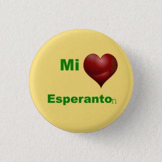 Mi you love esperanton pinback button