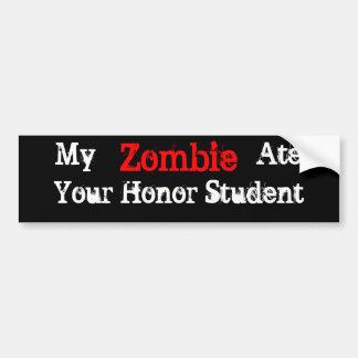 Mi zombi comió a su pegatina para el parachoques d pegatina para auto