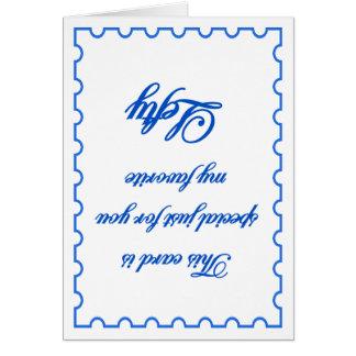 Mi zurdo preferido tarjeta de felicitación