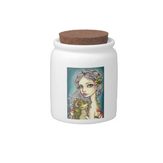 Mia and Onyx Candy Jars