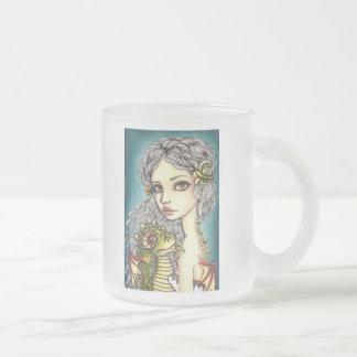 Mia and Onyx Frosted Glass Coffee Mug