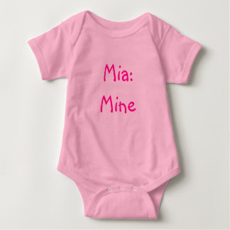 Mia Baby Name Meaning Bodysuit