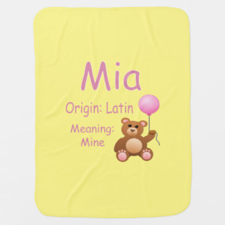 Mia baby name stroller blankets