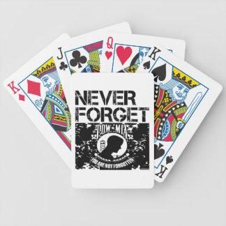MIA del PRISIONERO DE GUERRA nunca olvidan Baraja Cartas De Poker