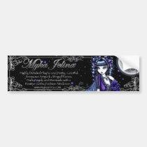 myka jelina, gothic, fantasy, fairy, art, dark, fairies, mia, faerie, Bumper Sticker with custom graphic design