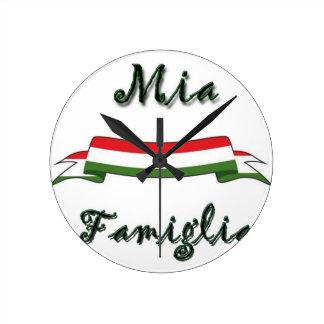Mia Famiglia Round Wallclocks
