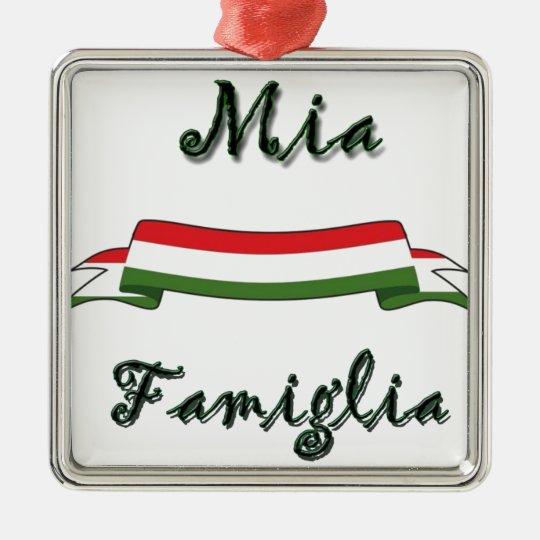 Mia Famiglia Metal Ornament