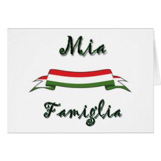 Mia Famiglia Tarjeta De Felicitación