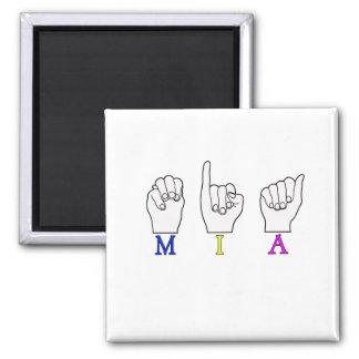 MIA FINGERSPELLED NAME ASL MAGNET