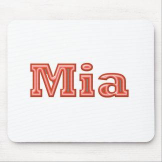 MIA Girl Name Text Mousepad