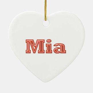 MIA   Girl Name Text Ornament