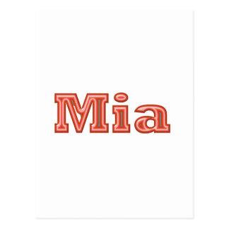 MIA   Girl Name Text Postcard