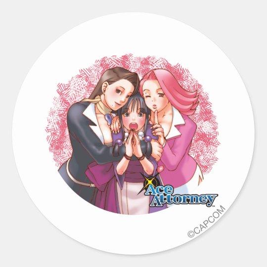 Mia, Maya & April Classic Round Sticker