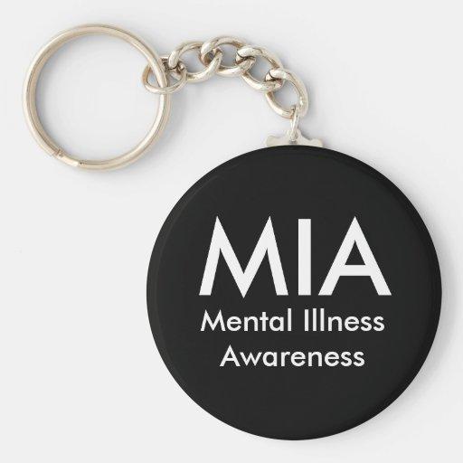 MIA, Mental Illness Awareness Keychain