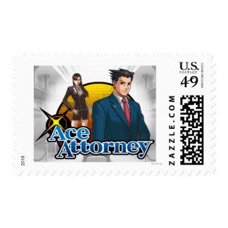 Mia & Phoenix on the bench Postage Stamp