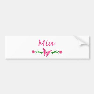 Mia (Pink Butterfly) Bumper Sticker