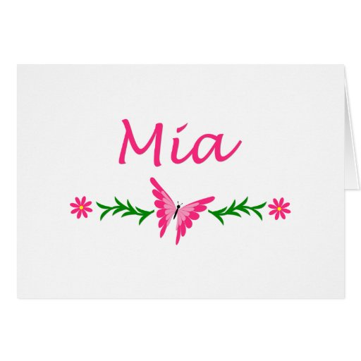 Mia (Pink Butterfly) Card