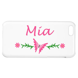 Mia (Pink Butterfly) iPhone 5C Cases