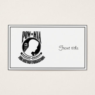 MIA / POW  ~ You Are Not Forgotten Business Card