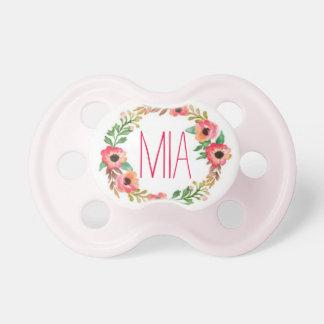 """Mia"" Simple & Elegant Personalized Name Pacifier"