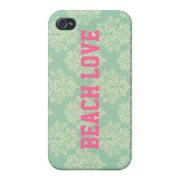 Beach Themed Mia: Teal and Pink Beach Love iPhone Case