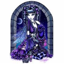 twilight, moon, purple, kitty, cat, mia, fairy, faerie, fae, faireis, faery, art, fantasy, myka, jelina, mika, faeries, Photo Sculpture with custom graphic design